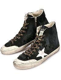【ゴールデングース】 GOLDEN GOOSE Sneakers FRANCY G31MS591.A93 フランシー メンズ スニーカー ハイカット ヴィンテージ ブラック 黒 【並行輸入品】