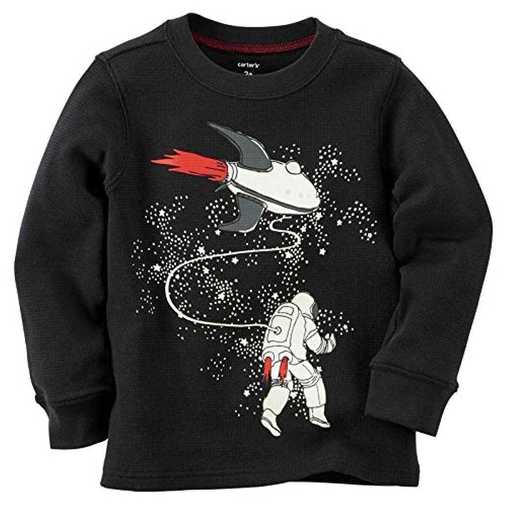 前提ほこりっぽい文字カーターズ Carter's 保温 トップス Tシャツ 長袖 100% 綿 サーマル 秋冬 Glow-In-The-Dark Astronaut Thermal [並行輸入品]