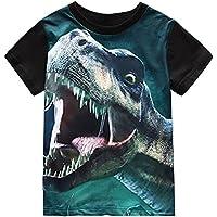 KONIGHT Little Boys Toddler Dinosaur T Rex Short Sleeve Tee T Shirt