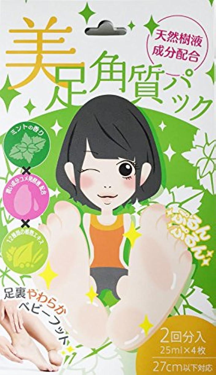 テザー繊維発揮する日本製 美足角質パック 天然樹液成分配合 ミントの香り