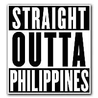 MFX Design マグネット フィリピン - Straight Outta シリーズ マグネット 車 トラック 磁気 ビニール あらゆる金属表面に貼り付く 4.7 インチ x 5.4 インチ