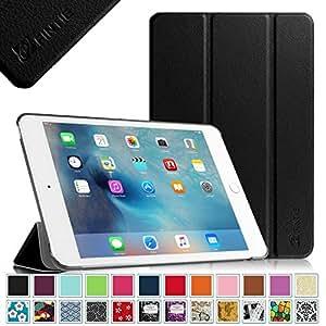 Fintie Apple iPad mini 4 レザー ケース カバー 超薄型 最軽量 スタンド機能 オートスリープ機能 三つ折タイプ iPad Mini4 【第四世代】専用 (ブラック)