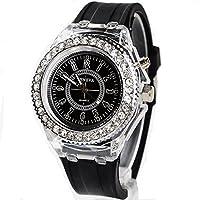 Geneva レインボーLED腕時計 ブラック