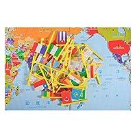 baoblaze GlobeパズルおもちゃNational Flag Matching地理学習