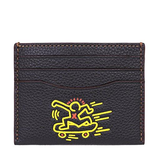 [コーチ] COACH 小物 (カードケース) F87106 ブラック BLK コーチ×キース・ヘリング レザー カードケース メンズ レディース [アウトレット品] [並行輸入品]