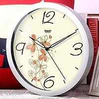 Chuangshengnet リビングルームの静かな洋風置時計/クリエイティブアート蓄光樹脂時計 (Color : G, サイズ : 10inch)