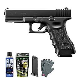 グロック17 3rd gen.(ガスブローバックガン フルセット : Glock17 本体+スペアマガジン+BB弾+ガス+オリジナル軍手)