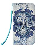 SEYCPHE for Samsung Galaxy S10e Case,3D Colorful Painting Premium PU Leather Wallet Handset& Magnetic Closure & Card Slots Protective Pocket For Samsung Galaxy S10e - Ghost Head