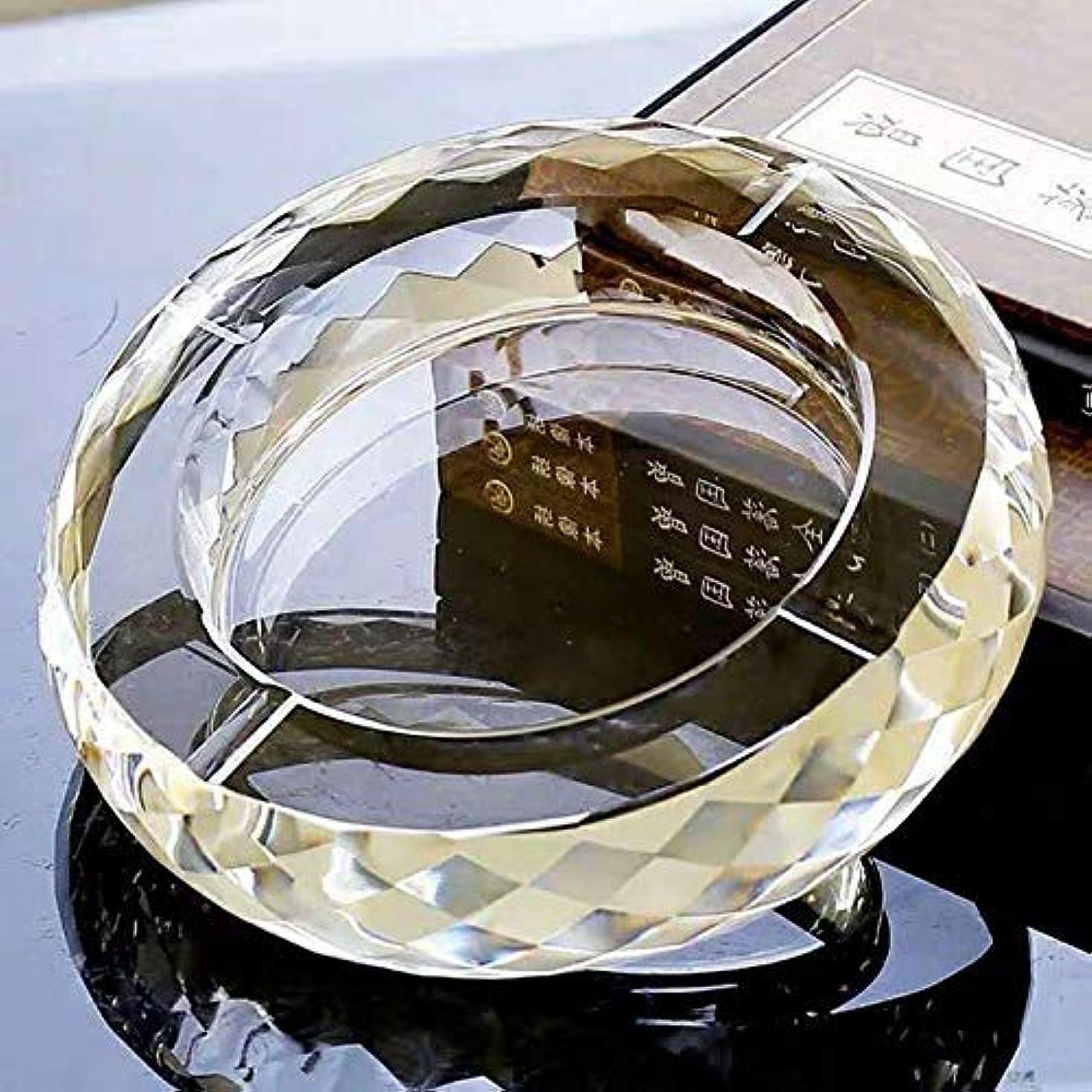 うねる断線分散K9クリスタル灰皿、テーブル用のエレガントな灰皿、屋外用の透明度の高い灰皿、小売パッケージ付きの新築祝いギフト(多角形)