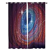 カーテン 星空 銀河 手描き 渦巻き カーテン遮光 セットカーテン 断熱 節電対策 防寒 一人暮らし 洗濯可 9サイズから選ベる 祝日プレゼント 幅135cm/丈135cm(1枚)2枚組