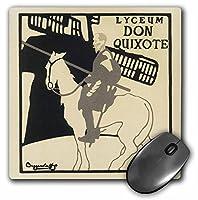 3drose LLC 8x 8x 0.25インチマウスパッド、ヴィンテージDon Quixote Man on horseアート( MP _ 99418_ 1)