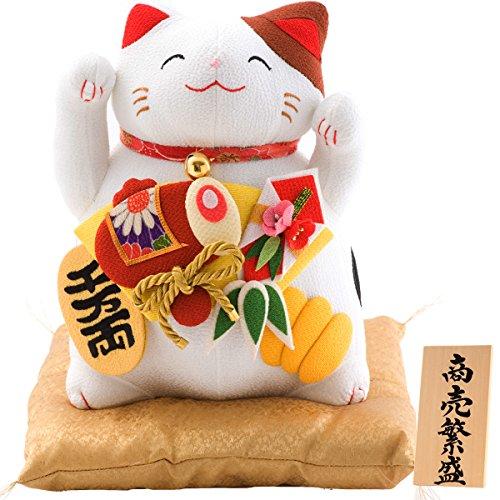 FUN fun(ファンファン) 招き猫 商売繁盛 千万両 福猫 高さ25cm リュウコドウ