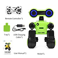ACHICOO JJRC R13 CADY WIRIスマート RCロボット プログラマブル for Touchコントロールボイスメッセージ レコード 最新Sing Dance Toy 緑