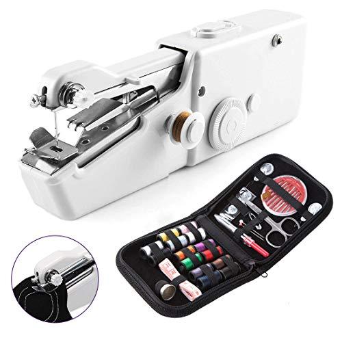 RabbitStorm ハンドミシン ミニ電動ミシン ハンディミシン コンパクトミシン 片手で縫える 乾電池式 手持ち 裁縫道具 操作簡単 手作り 縫い物 裁縫セットおまけ付き