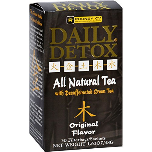 WellementsルーニーCV Dailyすべての自然Detox Tea with Decaffeinatedグリーンティー元–Detox Yourボディ–30Sachet (パックof 4)