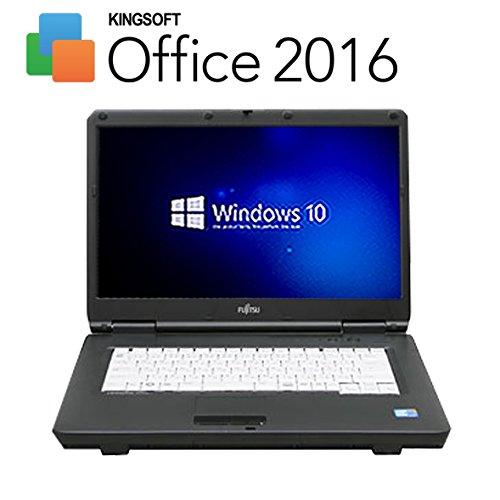 Corei3がこの価格で!?【最新 Kingsoft Office 2016搭載】【最新OS Windows10 搭載】 富士通 A550/A ( Core i3 2.2GHz / メモリ 3GB / HDD 160GB / DVDが焼ける / 15.6インチワイド / 無線LAN子機付属(Wi-FiもOK) ) 中古 ノートパソコン