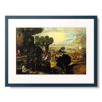 Dossi, Dosso (Giovanni de Luteri),ca. 1486/87-1542 「Landschaft mit Szenen aus dem Leben von Heiligen.」 額装アート作品