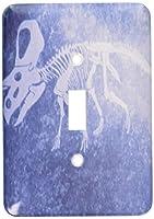 3drose LLC lsp _ 35040_ 1ブルーとホワイト恐竜II Single切り替えスイッチ