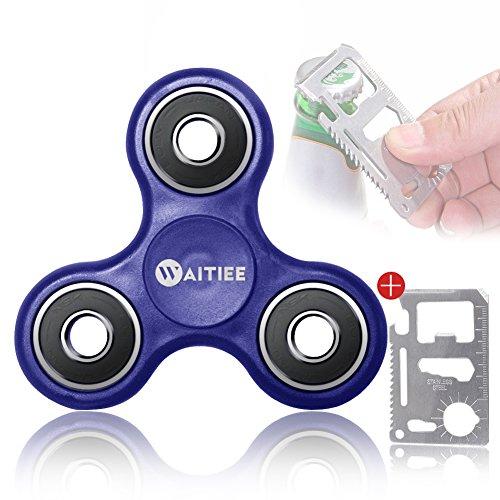 Waitiee Hand spinner ハンドスピナー 指スピナー スピン ウィジェット フォーカス おもちゃ ギフト ADHD 子供 大人に適用 Hand Fidget Spinner Focus Toy (蓝)