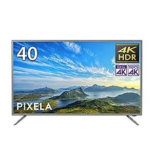 ピクセラ VMシリーズ 40V型 4Kチューナー内蔵液晶テレビ 4K Smart TV PIX-40VM100 外付HDD裏番組録画対応 Amazon Echo、Google Home対応