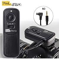 Pixel 2.4GHz 16チャンネル コンパクト ラジオ電波式 カメラ ワイヤレス レリーズ シャッター リモコンcanon EOS R 1D 5D 6D 7DMarkII 5DRS 50D 40D 5DMarkIV 1300D 1200D 11000D 800D 750D 650D 550D 450D 350D 60D 70D 80D 77D P0WERSHOT G11 G12 G16 G1X G3X G1XII SX50HS SX60HSなどに対応 カメラ用 リモートコントローラー Canon RS-80N3/RS-60E3