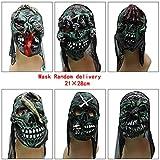 GHMOZ ホラー怖いラテックスマスク、カーニバルコスプレ衣装、ハロウィーン仮装マスク、フルフェイスコスチュームパーティーデコレーション小道具 (Color : Q)