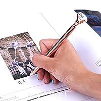 ANNE2018 金属ケースボールペンカラットダイヤモンドリングクリスタルペン女性の結婚式事務学用品のギフトローラーボールペンローズゴールド万年筆