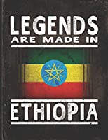 Legends Are Made In Ethiopia: Customized Gift for Ethiopian Coworker  Undated Planner Daily Weekly Monthly Calendar Organizer Journal