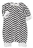 (ラボーグ)La Vogue ベビー服 キッズ ロンパース 子供 男の子 女の子 カバーオール 肌着 ジャンプスーツ 長袖 赤ちゃん 新生児 出産祝い オーバーオール 黒白 90(M)