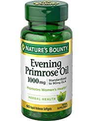 海外直送肘 Natures Bounty Evening Primrose Oil, 1000 mg, 60 caps