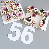 Holaroom 10 / 12inch PETプラスチックナンバーケーキ金型ケーキデコレーティングツールConfeitariaメーカー誕生日ケーキデザインペストリーツール:12インチ