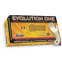"Microflex ev-2050-xs Evolution One粉末ゼロ試験手袋、ラテックス、9.6インチ長、3.9インチ袖口厚さ5.5"" Palm、厚さ、指5.9""厚さ、XS、自然(パックof 100)"