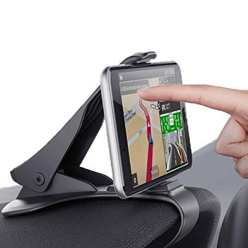 Rareal(レアリアル) 車載ホルダー スマホ クリップ式 カーマウント カーホルダー HUD設計 ダッシュボード 取り付け iPhone Android 3~6.5インチまで多機種対応