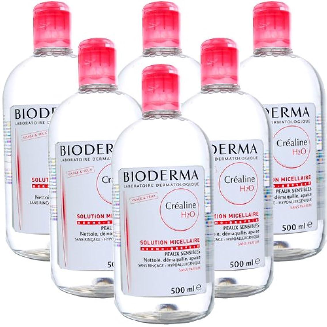 特異性最も遠い誘惑ビオデルマ BIODERMA サンシビオ H2O (エイチ ツーオー) D 500mL 【6本セット】 [並行輸入品]