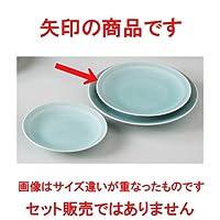 青白磁青海波 6.0皿 [ 18.7cm 390g ] 【 和皿 】 【 料亭 旅館 和食器 飲食店 業務用 】