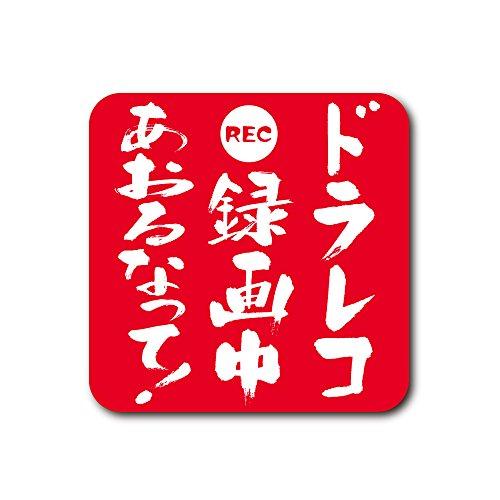 ドライブレコーダーステッカー【ドラレコ録画中シール】あおり運転対策に10cm2枚(大) (レッド)