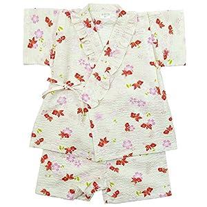 《盛夏 甚平》(ジンベイ) 日本製ベビー女児 リップル生地金魚総柄甚平スーツ 95cm/OW NO.OG-75570