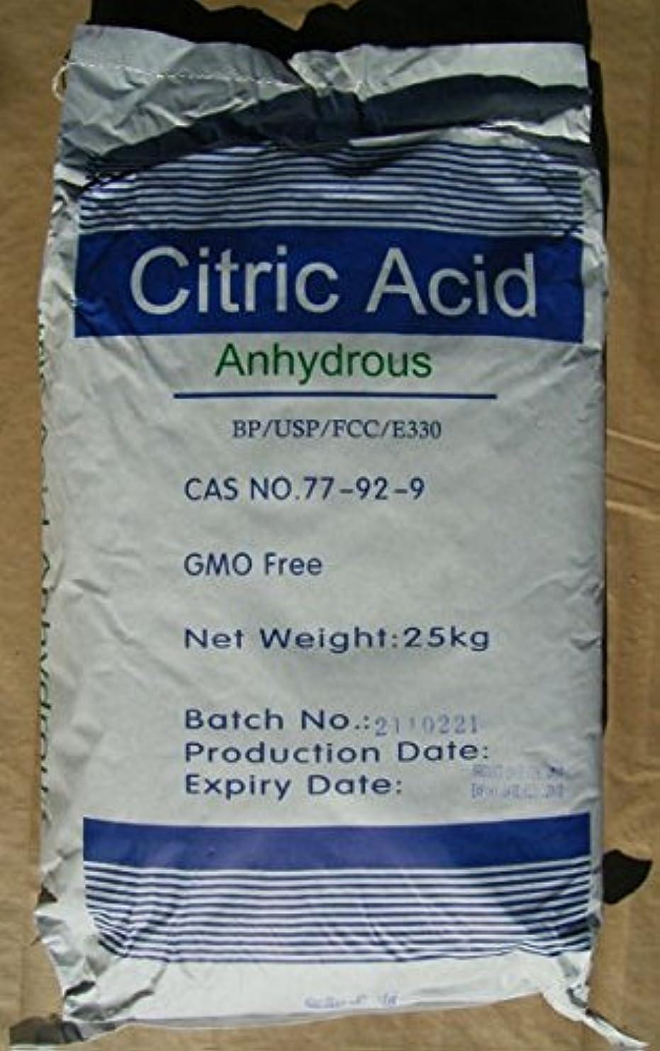 むき出しによって外国人無水クエン酸 (食品添加物=フードグレード)25kg