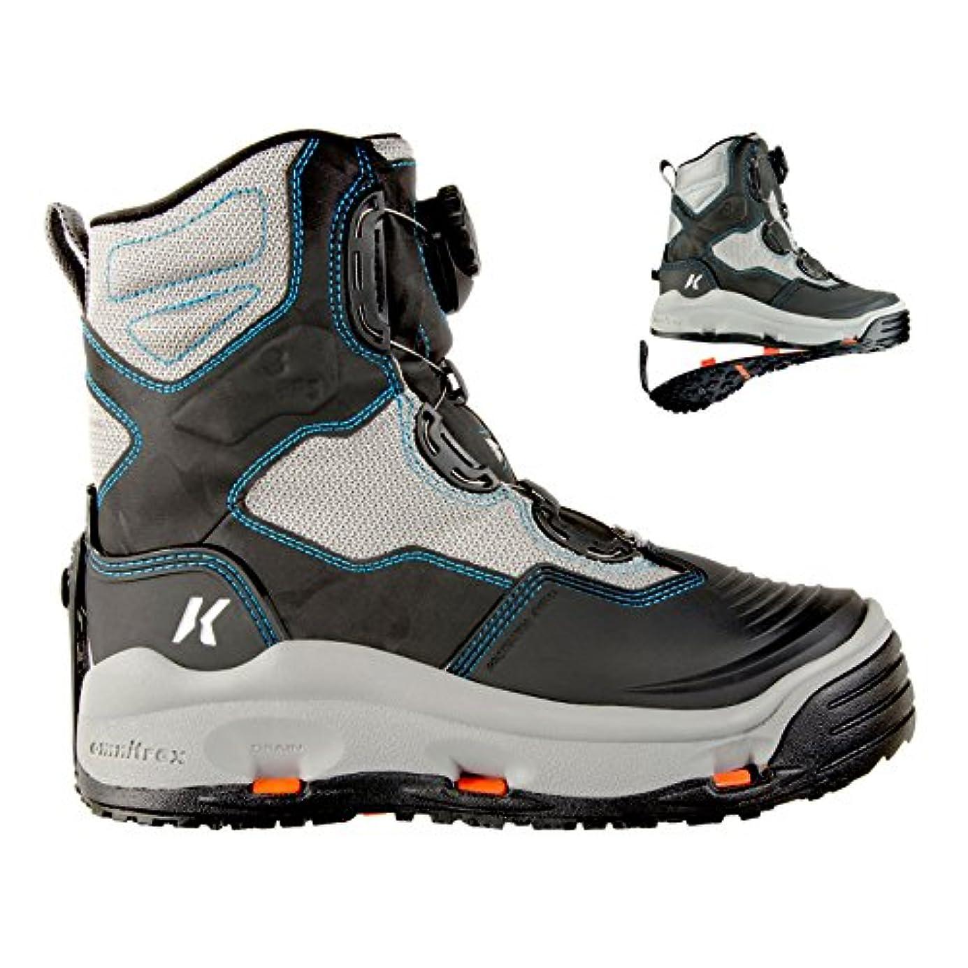 発明するあいまい寛解KorkersレディースDarkhorse Wading Boots Womens 10 kling-on &スタッズkling-on