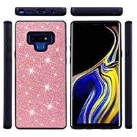 Happon Samsung Galaxy Note 9 スリム シェル, 薄いです 保護 カバー, 電話ケーススリム Samsung Galaxy Note 9, TPU シェル スクラッチ耐性 耐久性のある 弁護者 緩衝器 (Pink)