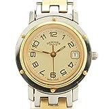 HERMES 腕時計 エルメス クリッパー クオーツ 腕時計 CL4.220 シルバー×ゴールド