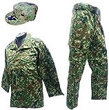 陸上自衛隊 迷彩服上下ベルト・パトロールキャップセット 陸上自衛隊迷彩戦闘服3型 L