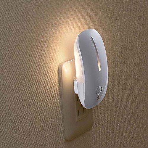 センサーライト LEDナイトライト 人感センサー 光センサー付 自動点灯 自動消灯 電球色 おしゃれ NIT-AE3LA