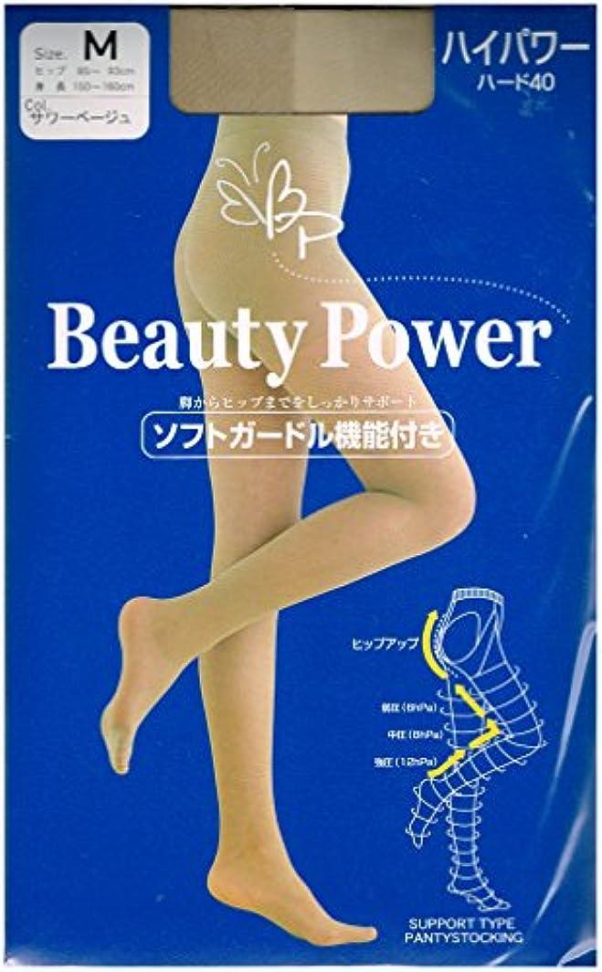 まともな安息早めるBeauty Power 着圧ストッキング ハイパワー40 (ヒップアップ機能付)