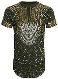メンズ スキニーパンツ AlmasアパレルメンズヒップスターヒップホップAfrican Dashikiグラフィックトップシャツ