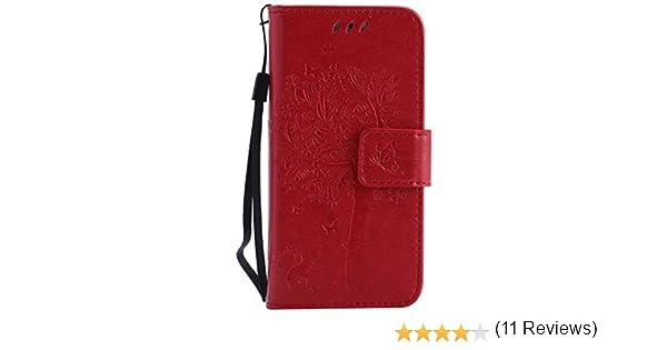 ad01e3deab Amazon | iPhone SE/iPhone 5 / 5s ケース 手帳型ケース, UNEXTATI 高級 PUレザー 保護ケース 財布型 カバー  液晶保護 カード収納 スタンド機能 マグネット開閉式 ...