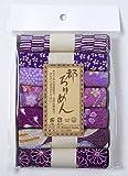 レーヨンちりめん・紫系柄カットクロスセット(22×16.5cmが7枚入)