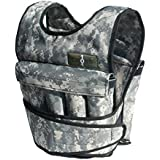 Cross101 Camouflage Adjustable Weighted Vest with Shoulder Pads, 20 Piece