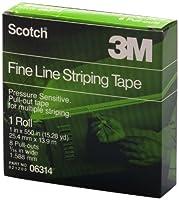 3M 6314 Fine Line Tape Scotch Fine Line Striping Tape, 8 Pull Outs, 1 in. X 550 in.