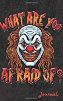 Journal: Scary Clown Lined Travel Notebook
